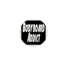Bodyboard Addict Mini Button