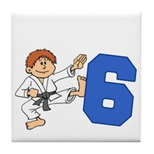 Martial Arts 6th Birthday Tile Coaster