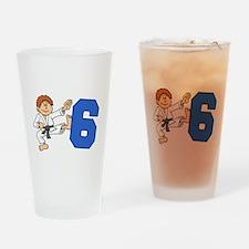 Martial Arts 6th Birthday Drinking Glass