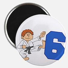 Martial Arts 6th Birthday Magnet