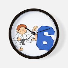 Martial Arts 6th Birthday Wall Clock