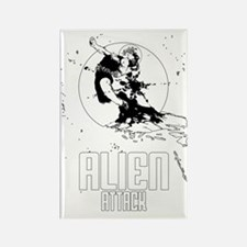 alien attack scifi vintage Rectangle Magnet