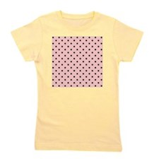 Pink and Black Dot Patttern. Girl's Tee