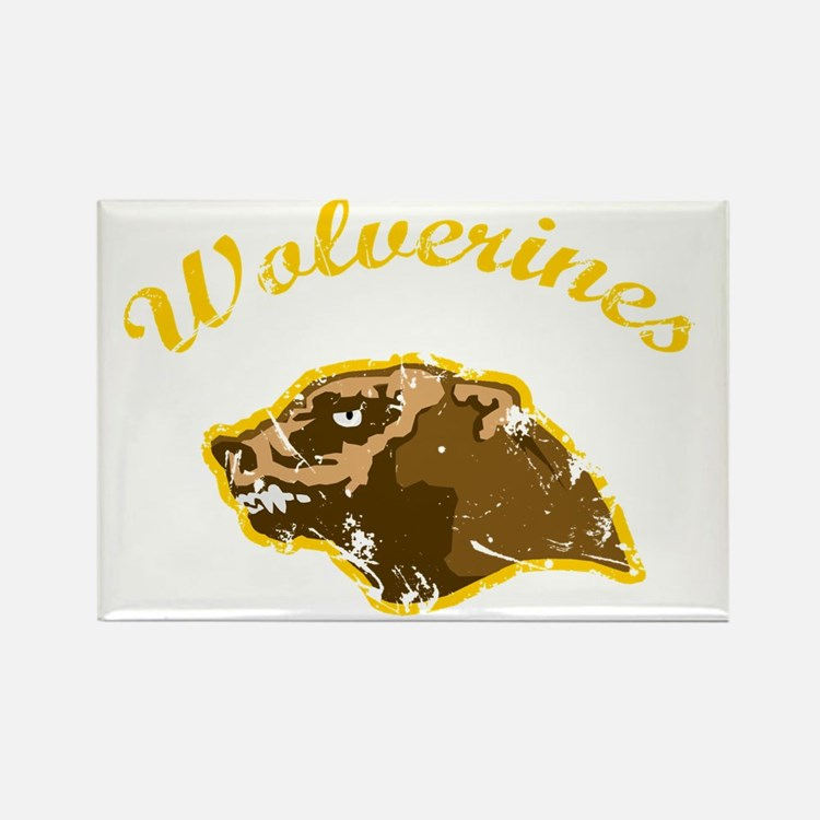 wolverines logo Rectangle Magnet