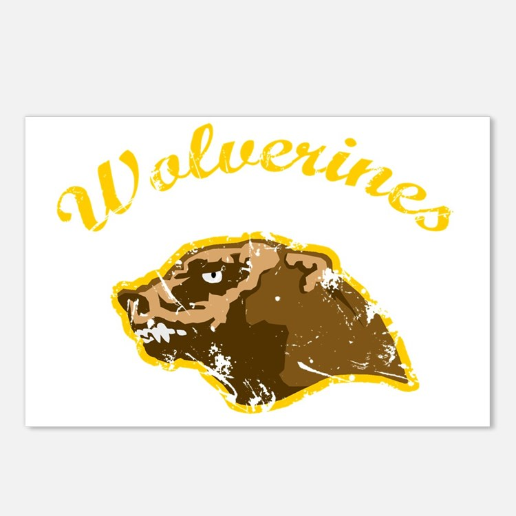 wolverines logo Postcards (Package of 8)