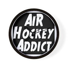 Air Hockey Addict Wall Clock