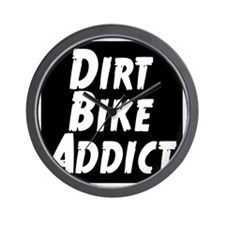 Dirt Bike Addict Wall Clock