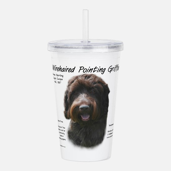 Wirehaired Pointing Gr Acrylic Double-wall Tumbler