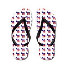 Democrat Donkey Pattern Flip Flops