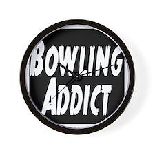 Bowling Addict Wall Clock