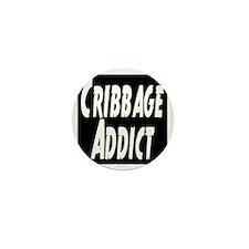 Cribbage Addict Mini Button
