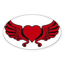 heart wings tribal floral crown Decal