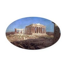 The Parthenon by Frederic Edwin Ch Oval Car Magnet