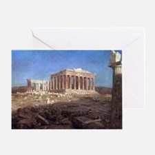 The Parthenon by Frederic Edwin Chur Greeting Card