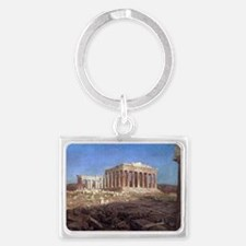 The Parthenon by Frederic Edwin Landscape Keychain
