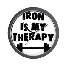 iron-is-my-therapy Wall Clock
