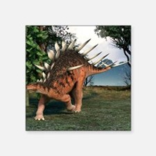 "Kentrosaurus dinosaur, artw Square Sticker 3"" x 3"""