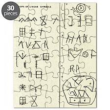 Linear script symbols Puzzle