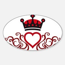 floral tribal heart crown Decal