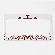 floral tribal heart crown License Plate Holder