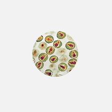 HIV particles, TEM Mini Button