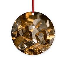Iron pyrites Round Ornament