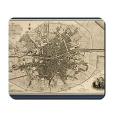 Map of the City of Dublin, 1797 Mousepad
