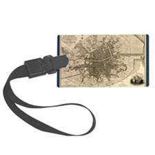 Map of the City of Dublin, 1797 Luggage Tag