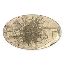 Map of the City of Dublin, 1797 Decal