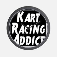 Kart Racing Addict Wall Clock
