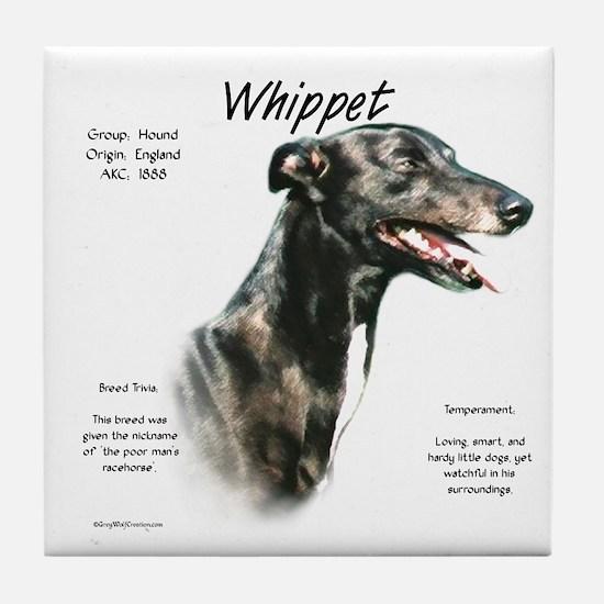 Whippet Tile Coaster