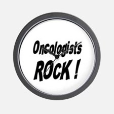 Oncologists Rock ! Wall Clock