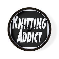 Knitting addict Wall Clock