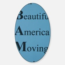 Obama- Our Beautiful America Moving Decal