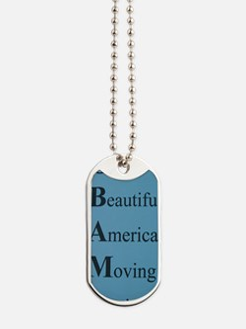 Obama- Our Beautiful America Moving Again Dog Tags