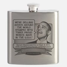 Obama Sez Made in the USA Equals Three Words Flask