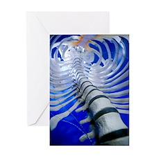Human spine model Greeting Card