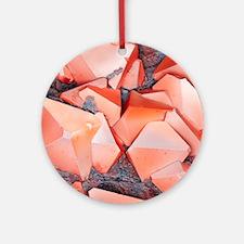 Iron pyrite crystal, SEM Round Ornament