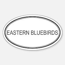 Oval Design: EASTERN BLUEBIRD Oval Decal