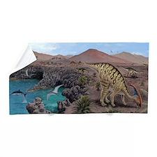 Mesozoic reptiles, artwork Beach Towel