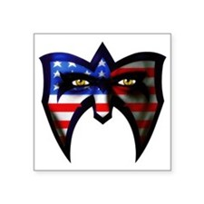 "Warrior America Square Sticker 3"" x 3"""