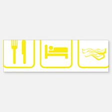 EatSleepBacon1D Bumper Bumper Sticker