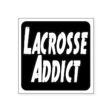 "Lacrosse Addict Square Sticker 3"" x 3"""