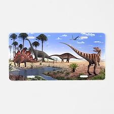 Jurassic dinosaurs Aluminum License Plate