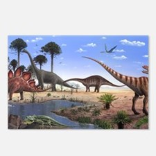 Jurassic dinosaurs Postcards (Package of 8)