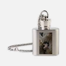 Long-tailed macaque baby Flask Necklace