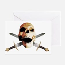 sword skull tribal viking odin helme Greeting Card