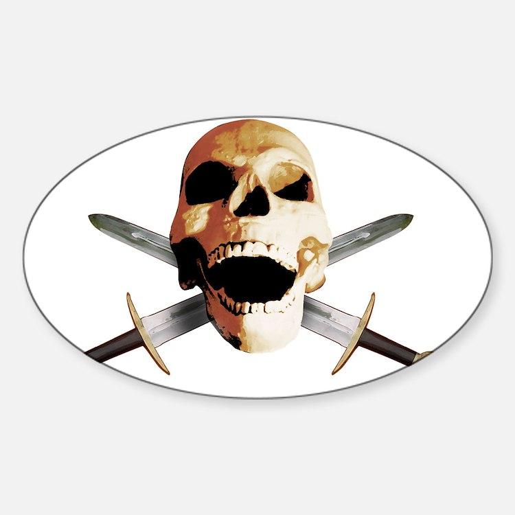 sword skull tribal viking odin helm Decal