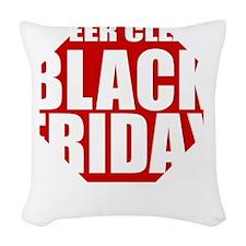 Black-Friday Woven Throw Pillow
