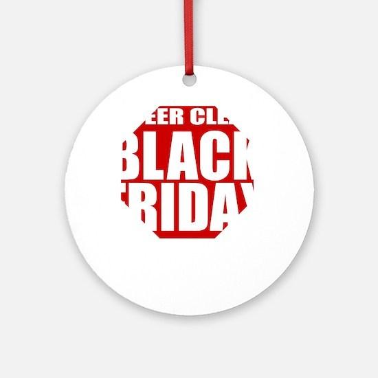 Black-Friday Round Ornament